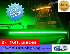 x2 pieces (16ft each) ____ GREEN boat kit - pontoon or fishing boat part - 32FT.