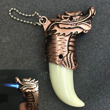 Refillable Jet Flame Butane Torch Cigarette Cigar Windproof Dragon Style Lighter