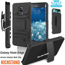 Shockproof Rugged Hybrid Armor Case Stand Holster Belt Clip For Galaxy Note Edge