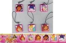 SET Figure Quadretti WINX CLUB DISNEY Bloom Stella Tecna DANGLERS Laccetto RARO