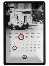 orig Mercedes Benz ewiger Kalender Blech Schild Emaille Silberpfeil Classic TOP