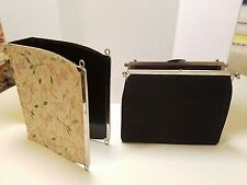 "RARE! 1950's ""3 in 1"" Interchangeable Purse L & M by Edwards USA - Lucite Handle"