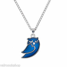 Sleeping Owl Mood Colour Changing Pendant Necklace in Gift Box