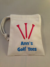 Golf Tee Bag - Pink Tees PERSONALISED WITH ANY NAME