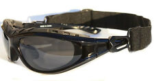 Padded Riding Sunglasses Black Glasses Motorcycle Driving w/ Smoke Lens