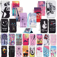 New Various PU Leather Magnetic Flip Wallet Cover Case For Samsung Galaxy Phones