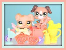 ❤️Littlest Pet Shop LPS Boxer Puppy #1353 & Mommy #2351 DOGS Accessories LOT❤️