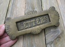 Antique Aesthetic Brass Letter Box Plate / Mail Slot