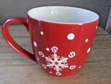 STARBUCKS COFFEE HOLIDAY 2007 RED MUG WITH SNOWFLAKE