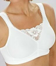BNWT MISS MARY OF SWEDEN WHITE LACE TOP BRA SUPPORT FULL COVERAGE UK 44DD