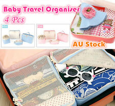 4 Baby Travel Bag Trips Organiser Kids Clothes Accessories Case Bags Luggage