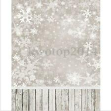 5x7ft Christmas Snowflake Scene Photography Backgrounds Vinyl Backdrops Prop