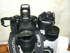 Canon EOS 400D /  10.1 MP Digital SLR Camera - Black WITH THREE LENSES