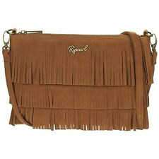 RIP CURL WOMENS BAG.NEW MORO FESTIVAL FRINGED BROWN SHOULDER CLUTCH 7S BGP4 1046