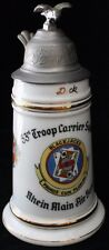 Rare USAF 1948-50 53rd Troop Carrier Sq. German-Made Lithophane Stein