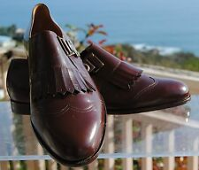 MEN'S Finest ITALIAN Brown KILTY SHOES at Serena D'Italia -SIZES 8.5, 11 & 12.