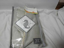 New Waterford Bed Linens Euro European Pillow Sham KERRIGAN 26x26 Cream/Taupe