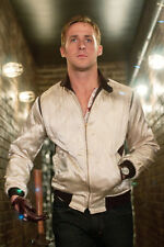 RYAN GOSLING 24X36 POSTER COOL ICONIC POSE DRIVE IN SILVER JACKET