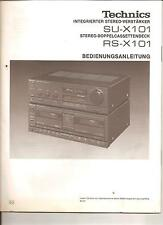 Bedienungsanleitung Instruction  Handbook of Instruction Technics SU-X101