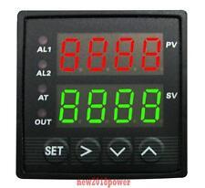 Dual Digital F/C PID Temperature Controller Furnace Kiln Oven +SSR 25A