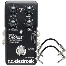 TC Electronic Corona SCF Chorus Tri-Chorus Guitar Effects Pedal + Patch Cables