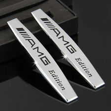 2pcs Metal Side Trunk Car sticker Fender emblem badge Fit for Mercedes Benz AMG