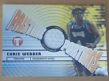 2002-03 Topps Pristine Portions #PPOCW Chris WEBBER