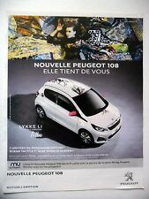 PUBLICITE-ADVERTISING :  PEUGEOT Nouvelle 108  2014 Lykke Li Tattoo Voiture