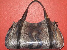 SIMPLY VERA WANG NWT $99 women's purse MONROE SHOPPER estate grey python