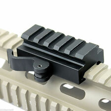 QD Quick Release Mount Adapter 5 slots Fit 20mm Picatinny Rail Base Tactical