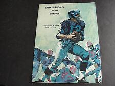 Greensburg-Salem vs. Monitor, Pa. High School Football Program-September 8, 1967