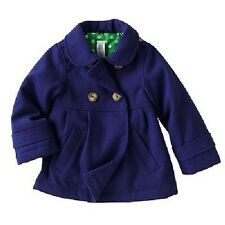 New Carters Purple Violet Pea Coat with front pockets 4 kids NWT Lined so Cute!