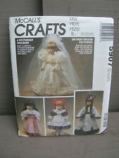 "Vintage McCall's Crafts 13"" 16"" Doll Clothes Sewing Pattern 5907 Uncut / Unused"