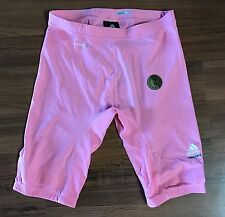 Adidas TechFit PowerWeb ClimaLite Compression Shorts Mens Sz Medium Pink NBA NEW
