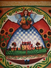 Angel Fabric - Jim Shore Square - Harvest Angel With Sunflowers
