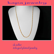 Mens Jewellery 22k Gold Plated Necklace for Men or Women Chain Indian gold a9a