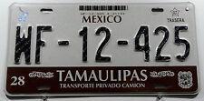 """Nummernschild Mexico """"Tamaulipas"""" mit schöner Grafik. 12158."""