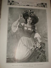 Printed photos actresses Fanny Dango & Ethel Irving 1903 ref Z