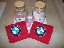 Embroidered  Bath or Gym  Hand Towels car logo BMW -Fathers day gift