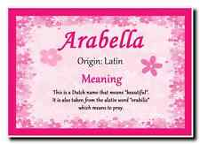Arabella Personalised Name Meaning Jumbo Magnet