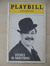 April 1974 - Winter Garden Theatre Playbill - Ulysses In Nighttown - Zero Mostel