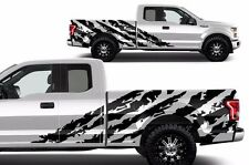 Custom Graphics Vinyl Decal Wrap Kit for 2015-2017 Ford F-150 SHRED Matte Black