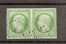 CLASSIQUE TIMBRE FRANCE FRANKREICH N°12 OBLITERE EN PAIRE PC 2376 SIGNE