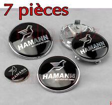 KIT 7 Badge Embleme LOGO HAMANN BMW - Capot + Coffre + Volant + 4 Cache Jante