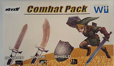 3 in 1 Combat Pack SWORD, KNIFE,and SHIELD Compatible with Wii