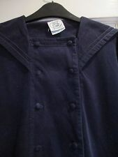 "LAURA ASHLEY"" Drop waist navy cord sailor Dress "" size 12.( MADE IN UK )"