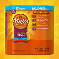 Metamucil MultiHealth Fiber, Sugar Free, 260 Doses New...Sealed!!!