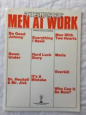 Men At Work Greatest Hits Piano Sheet Music Guitar Chords Lyrics Book 80s