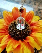 "DISNEY Beauty and the Beast inspired ""Enchanted Rose"" vial necklace w/ Connector"