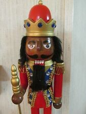 African American Christmas  Nutcracker Ethnic Black Royal King Guard Crown